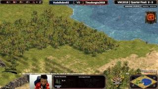 VNC2018 | 1v1 Online | Vudaihdvn92 vs Tieudongta2018 | Quarter Final | 16-06-2018