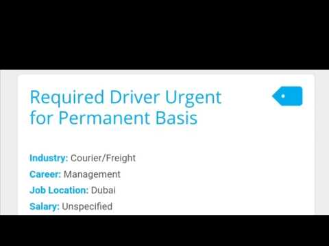 Drivers jobs in Dubai UAE    All jobs for Drivers    Jobs Opening In UAE