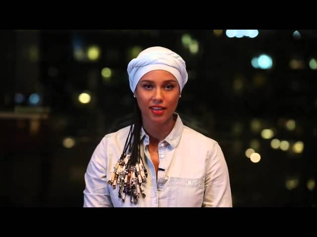 Alicia Keys to the students participating in Girls On Fire Leadership Camp over the 2014 Holiday