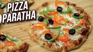 Pizza Paratha Recipe - How To Make Veg Cheese Pizza Paratha - Easy Snack Recipe - Ruchi