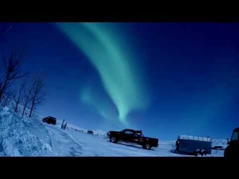 Northern Lights in Reykjavik, Iceland on January 29th 2015 Time Lapse