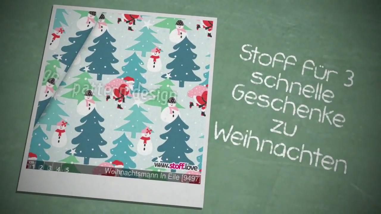 5 Stoff & Nähideen zu Weihnachten - YouTube