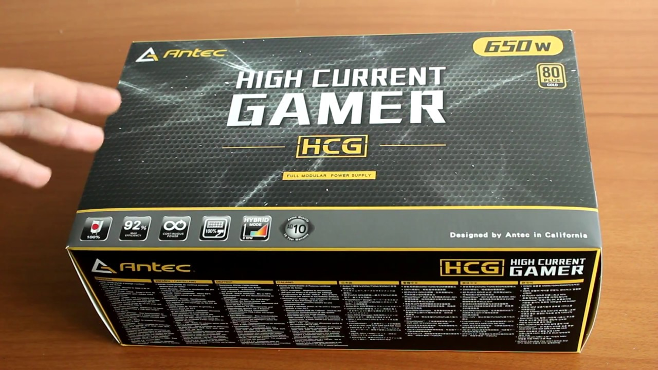 [Unboxing] Antec High Current Gamer Gold 650W : Fully Modular Goodness