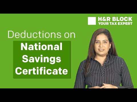 Tax deductions on National Savings Certificate (NSC) investments
