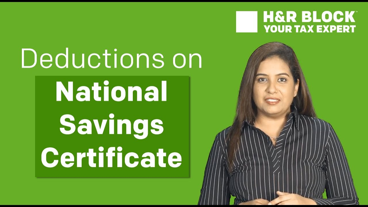 Tax Deductions On National Savings Certificate Nsc Investments
