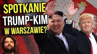 Donald Trump USA i Kim Dzong Un KRLD Spotkanie w Warszawie w Polsce - Komentator