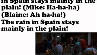 The Rain In Spain Glee Lyrics