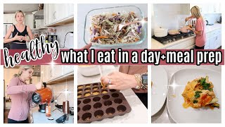*NEW* HEALTHY WHAT I EĄT IN A DAY LOW CARB MEAL PREP COOK WITH ME TIFFANI BEASTON HOMEMAKING 2021