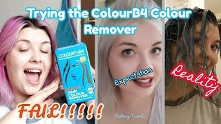 FAIL! ColourB4 Turns My Pink Hair BLUE! | Colour Remover Review