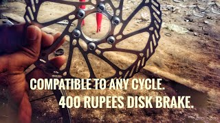 How to install disk brakes on non disk brake cycle/Buddy Tech.