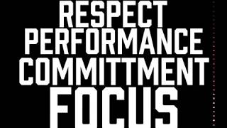 Hammer Strength is: Respect, Performance, Commitment, Focus