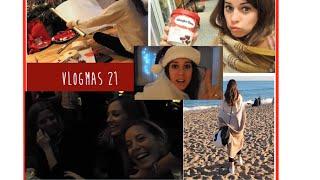 Mañana de playa, envolviendo regalos, Cena chicas | Vlogmas 21 Thumbnail