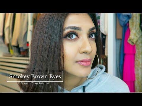 Brown Smokey Eyes | Vithya Hair and Makeup Artist