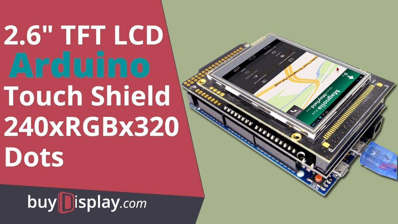 """2.2/"""" inch TFT LCD Resistive Touch Shield for Arduino Due,MEGA 2560,Uno w//Library"""