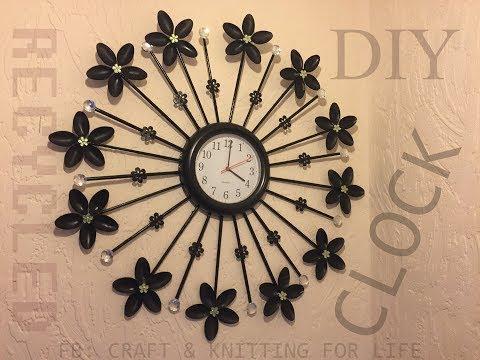 DIY Clock decor/Wall Decoration/Spoon clock/Recycled material