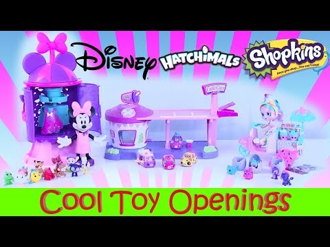 Huge Toy Openings Shopkins Cutie Cars Disney Princess Minnie Mouse Shopkins Shoppies Toy Review