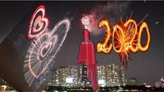 Trực tiếp bắn pháo hoa giao thừa tết CANH TÝ 2020 ở Landmark 81 | Fireworks 2020