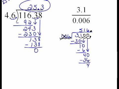 Adding Zeros to Decimals to Continue Dividing 4.5
