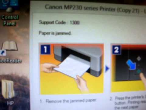 Canon Pixma MP237 Paper Is Jammed