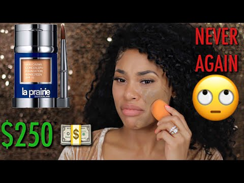 OMG! $250 FOUNDATION?!!!   TESTING OUT THE MOST EXPENSIVE FOUNDATION IN THE WORLD!