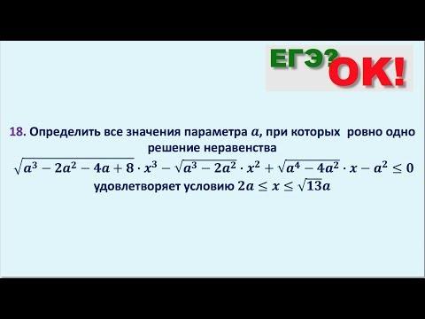 Иррациональное неравенство с параметром. Задание 18 (44) ЕГЭ по математике