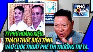 Tỷ phú Hoàng Kiều thách thức biểu tình tại quận Cam, khẳng định giúp truất phế TT Trí Tạ