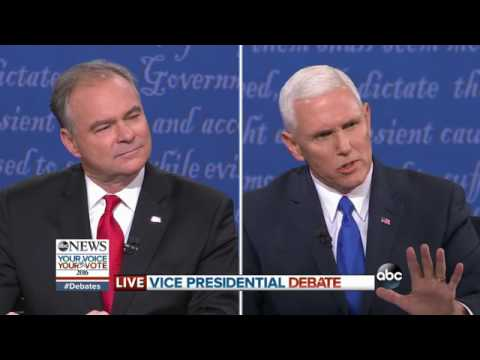 Vice Presidential Debate Highlights   Pence, Kaine on US Intervention in Syria
