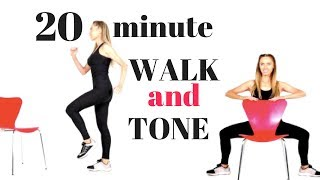 WALK AT HOME - WALKING WEIGHT LOSS WORKOUT AND TOTAL BODY TONE FOR WOMEN - WALK AT HOME