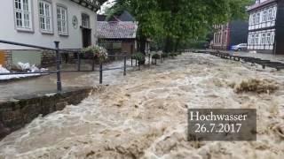 """Goslar erlebte das höchste hochwasser seit über 100 jahren.wirklich hart hat es die bewohner """"an der abzucht"""" getroffen. deren häuser sind im erdgeschoss unb..."""