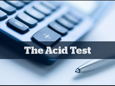 What Is The Acid Test ...