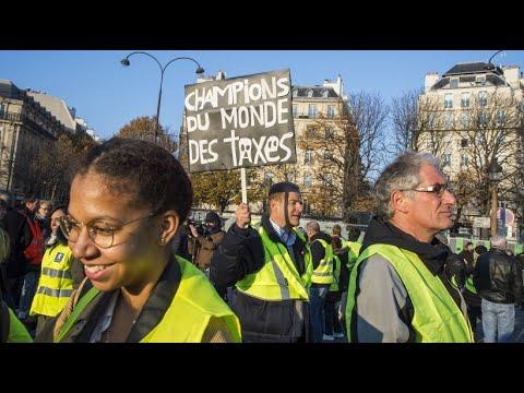 Proteste gegen hohe Spritpreise in Frankreich