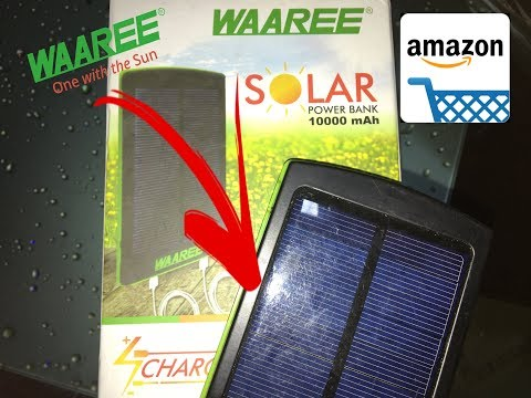 Solar power bank unboxing II Waaree 10000 mAh II Amazon