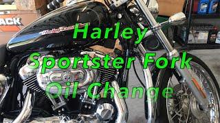 How To Harley Sportster Fork Oil Change