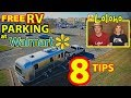 """Can I Still Park My RV Overnight for Free at Walmart?"" 8 Tips -- UPDATED FOR 2018!"