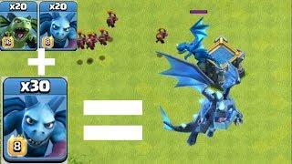 Electro Dragon Vs Minion Battle | Coc Private Ser...