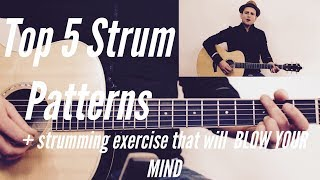 Top 5 Strum Patterns Used in Every Song   Strumming Exercise...