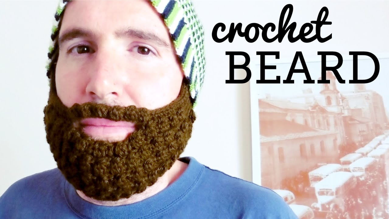 aecec5a55d5 How to crochet a BEARD for all hats