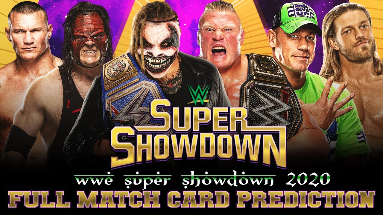 WWE SUPER SHOWDOWN 2020 | MATCH CARD PREDICTIONS - YouTube