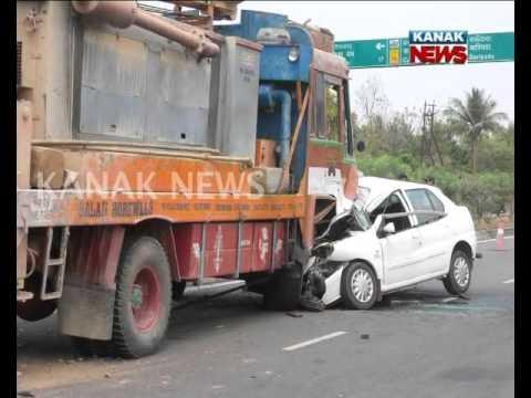 Accident In NH 16 Near Balugaon