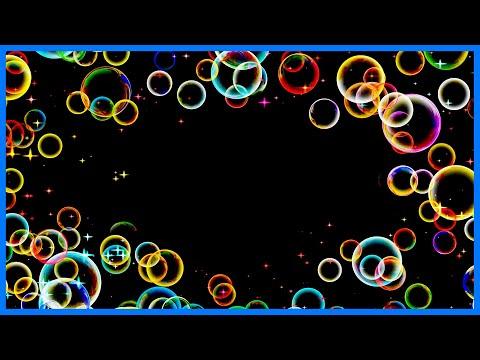 Футаж для видеомонтажа: рамка звезды и мыльные пузыри   NEW STARS & BUBBLES  footage free HD