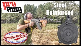 ProMag Steel Reinforced AK-47 Magazine and 50 Round Drum Test & Review (Epic Fail?)