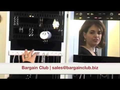 Hanging Jewelry Mirror Armoire Modern Case
