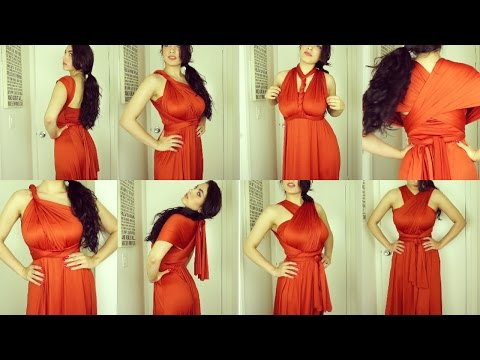 Burnt Orange Color Infinity Dress | Dress And Charm