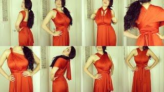 Burnt Orange Color Infinity Dress | Dress and Charm