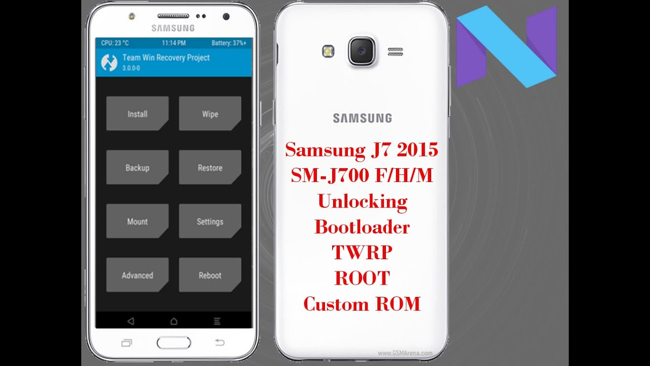 Samsung Galaxy J7 2015 Unlocking Bootloader TWRP Custom ROM