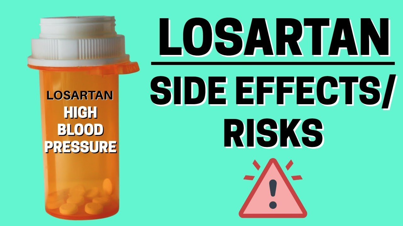What are side effects of losartan
