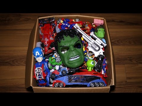 Box of Toys: Action Figures, Cars, Minecraft, Marvel's Spiderman and More