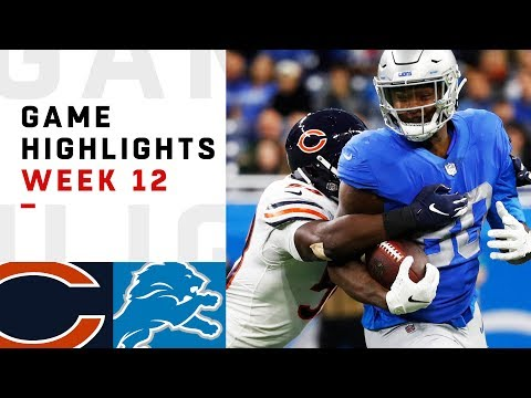 Bears vs. Lions Week 12 Highlights | NFL 2018