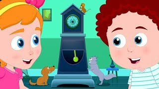 Hickory Dickory Dock | Nursery Rhymes For Kids | Schoolies Cartoon Videos