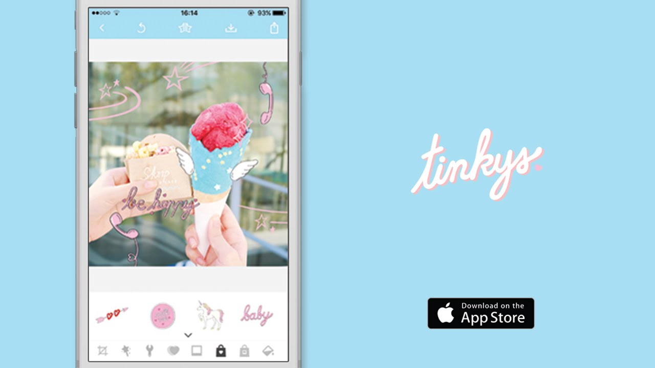TINKYS - Photo Stickers, Frames & Filters app - YouTube